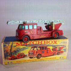 Lesney Matchbox Merryweather Fire Engine King by Eagleseyefinds, $45.00