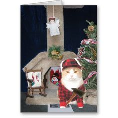 Customizable Funny Christmas Cat Condo Cards