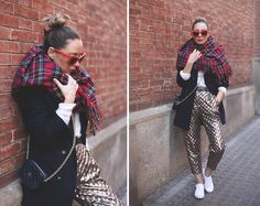 Stella Mc Cartney Sunnies, Topshop Pants, Carolina Herrera Bag, Lefties Scarf
