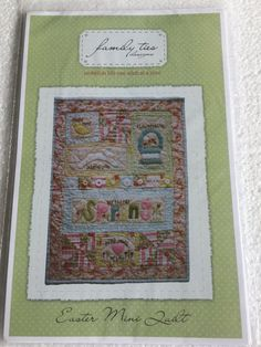 Easter Mini Wall Quilt Wallhanging Sewing Pattern UC by Vntgfindz