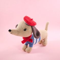 Amigurumi crochet doll - Manu the dachshund sausage dog PATTERN ONLY (English)