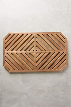 Teak Slat Bath Mat - anthropologie.com