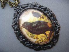 Raven Necklace Blackbird Jewelry - Edgar Allan Poe