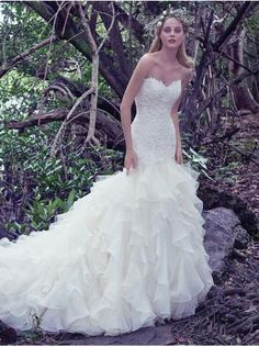Rebecca Ingram Bridal Gown At The Cottage Sleeves Lace Train