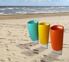 Lixeira de praia