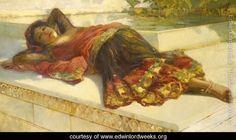 Nautch Girl Resting - Edwin Lord Weeks - www.edwinlordweeks.org