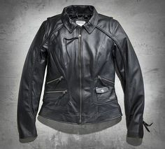 In the collection of womens jackets, the Harley-Davidson motorcycle jackets stand alone. Find your style from our womens motorcycle jackets collection. Motorcycle Riding Jackets, Biker Jackets, Harley Davidson Online Store, Harley Gear, Biker Style, Cute Outfits, Leather Jacket, Biker Fashion, Dreams
