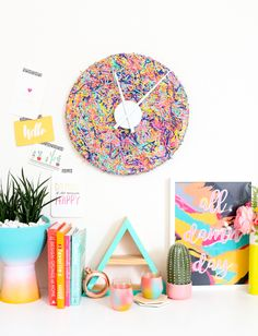 A Kailo Chic Life: DIY It - A Colorful Confetti Clock