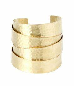 Bracelet manchette doré Femme doré - Promod