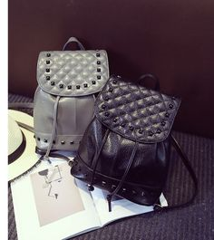 Fashion Rivet Women Casual Bags Backpack. 7aa541138fe5b