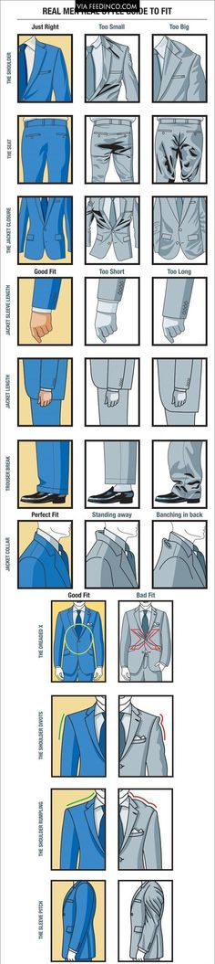 A Visual Guide For How a Proper Fitting Suit >>> check similar images on Feedinco.com