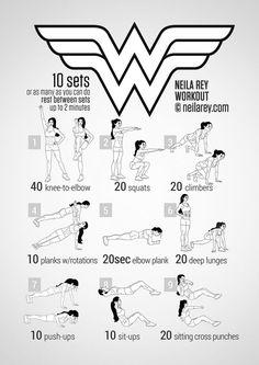 wonder woman workout - Buscar con Google