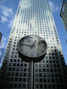 Found at One Canada Square in Canary Wharf, this is one of Six Public Clocks or the Canary Wharf Clocks, are by a German designer; Konstantin Grcic