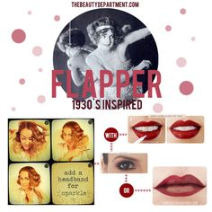 Halloween Help: Follow the links if you need a little beauty help for your flapper costume.