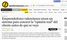 """Emprendedores valencianos crean un sistema para conocer la """"opinión real"""" del cliente antes de que se vaya  http://noticias.lainformacion.com/economia-negocios-y-finanzas/hardware/emprendedores-valencianos-crean-un-sistema-para-conocer-la-opinion-real-del-cliente-antes-de-que-se-vaya_XzcZeBTgboPcS3Jjm8o7H2/"""