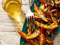 Learn how to make Grilled Sweet Potatoes with Scallion Butter . MyRecipes has 70,000+ tested recipes and videos to help you be a better cook