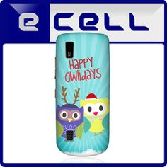e_cell - Head Case Owlidays Blue Owl Xmas Design GLossy Hard Back Case for Nokia Asha 300