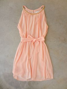 .Sealed with a Peach Dress