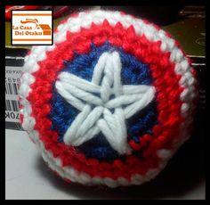 #amigurumi #escudo #capitanamerica #marvel #advengers #vengadores #superheroe #disney #comic #american