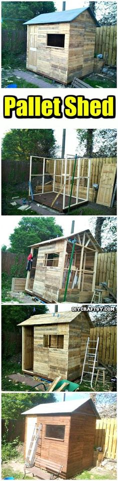 Hand-Built Pallet Shed - 150 Best DIY Pallet Projects and Pallet Furniture Crafts - Page 7 of 75 - DIY & Crafts