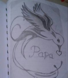#bird #drawing with #daddy in it