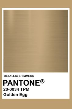Pinned to emulate brass. (brass or chrome hardware) Pantone Metallic Gold, Gold Pantone Color, Pantone Colour Palettes, Pantone Colours, Metallic Paint Colors, Brass Color, Color Of The Week, Deco Restaurant, Armadura Medieval