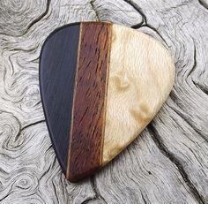 Handmade Multi-Wood Premium Guitar Pick  Actual by NuevoWoodcrafts