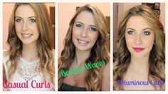 3 Ways To Curl Your Hair (+playlist) Casual Curls, Wand Hairstyles, Curling Hair With Wand, Beachy Waves, How To Curl Your Hair, Wand Curls, Beauty Full, About Hair, Hair Inspiration