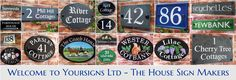 House Signs personalized for your Home. Custom made House Names & Door Numbers in quality outdoor materials. Specialists in V-Groove Engraved Slate Signs, Reflective Signs & Hand Painted Decorative Plaques Beach Cottage Style, Cottage Style Homes, Cottage House Plans, Personalized Wood Signs, Custom Wood Signs, Cabin Signs, Home Signs, House Name Plaques, Beach House Signs