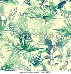 ilex and other leaves of tropical plants. digital drawing and watercolor texture. background for textile decor and design. Tropical Leaves, Tropical Plants, Watercolor Texture, New Pictures, Royalty Free Photos, Habitats, Boho Chic, Wallpaper, Drawings