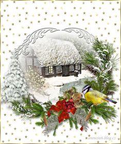 Připravené pro váš text | vánoční blog Old Christmas, Christmas Paper, Christmas Cards, Christmas Postcards, Gifs, Vector Background, Holidays And Events, Snow Globes, Decoupage