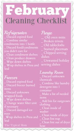 Here is your free February cleaning checklist to keep you organized and purge your house! Focusing on one area in your house each month is key to your overall success. Here is a cleaning and purging list for this month as well as a link to my free monthly cleaning schedule ebook. #february #cleaning #schedule #monthly #free #printable #thetypicalmom #organization #checklist #purging