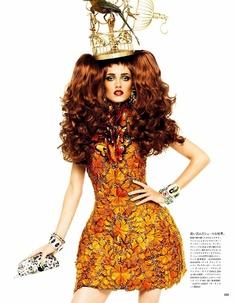 Magazine: Vogue Nippon  Issue: March 2011  Editorial: The Look Says It All  Model: Karmen Pedaru |Elite|  Fashion Editor: Anna Dello Russo  Photographer: Giampaolo Sgura