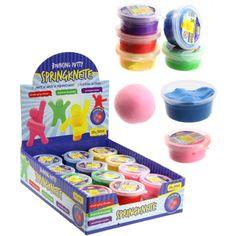 Springknete, 20g, 6 tolle Farben sortiert aus Großhandel und Import