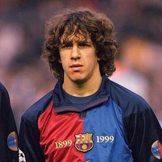 : Carles Puyol makes his first-team debut for Barcelona vs. Valladolid in La Liga. Football Awards, Football Icon, Best Football Team, Retro Football, Vintage Football, Football Shirts, Barcelona Futbol Club, Barcelona Fc, Barcelona Football