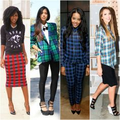 Master The Plaid Trend With 4 Key Silhouettes #fashion #style #plaid