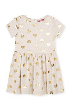 Primark - Kleid mit Herzmuster, 3–4 Jahre
