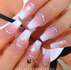 Amazing Nail Art Made Using Tones Products Get Nails, Fancy Nails, Love Nails, Fabulous Nails, Gorgeous Nails, Pretty Nails, Rhinestone Nails, Bling Nails, Nails Design With Rhinestones