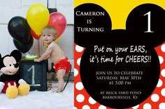 1st birthday Mickey | Mindy Smith Photography 2015