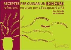 receptes per cuinar un bon curs Conte, Articles, Teacher, College, School, Books, Frases, Learning, Teachers