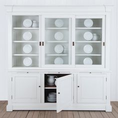 Superb Villa White Buffet U0026 Hutch   Generous Proportions Give The Villa Collection  The Shapely Profile Of