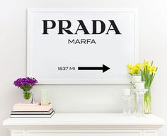 Prada Marfa Poster Inspired Gossip Girls Fashion Home Decor Wall Art Big Size in Home & Garden, Home Décor, Posters & Prints | eBay