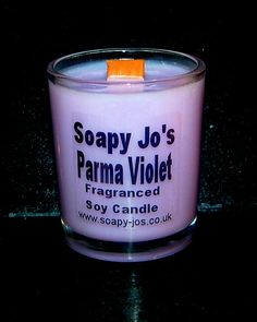 Parma Violet Wood Wick Candle