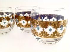 Vintage Mid Century Modern Culver Glasses - Larger Roly Poly Cocktail Glasses - by VintageModernHip on Etsy