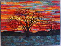 Colors of Winter art quilt by Lenore Crawford