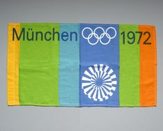 1972 Munich Olympics sports Flags designed by Otl Aicher and his team. Design classics and collectable items. 1972 Olympics, Summer Olympics, Olympia, Olympic Flag, Otl Aicher, New Zealand Flag, Sports Flags, Small Flags, Car Flags