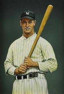 Lou Gehrig by Aurthur K. Miller