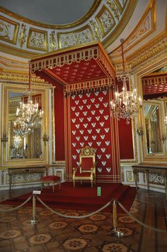 Warsaw- The Royal Castle's Throne Room, the Conference Room, the King's Study, the King's Dressing Room and the King's Bedchamber - The 28th of June 2015