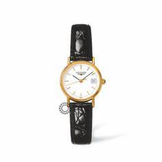 L4.220.2.12.2 Γυναικείο quartz ρολόι χειρός LONGINES Les Grandes Classiques επίχρυσο μαύρο λουρί | Ρολόγια LONGINES κοσμηματοπωλείο ΤΣΑΛΔΑΡΗΣ Χαλάνδρι #longines #ρολόγια