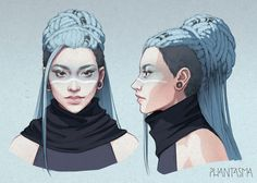 Cool hair | Phantasma: Leigh Design by DjamilaKnopf on DeviantArt